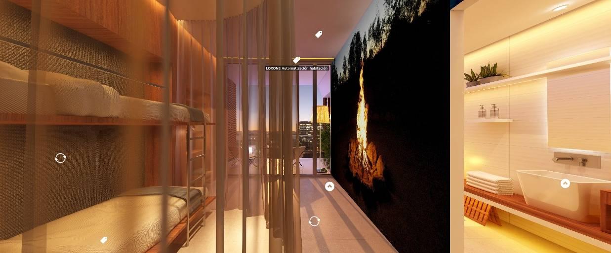 automatizacion habitaciones loxone